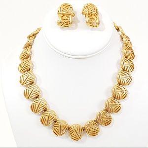 Vintage Anne Klein Necklace + Earrings [D1]